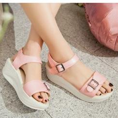 TULASI - Buckled Platform Sandals