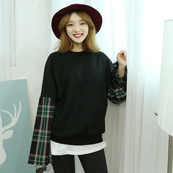 Dodostyle - Check-Sleeve Pullover