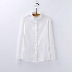 Tangi - Ruffle Trim Shirt