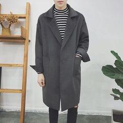 JUN.LEE - Notch Lapel Open Front Coat
