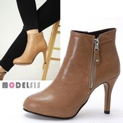 MODELSIS - Zip-Up Ankle Boots