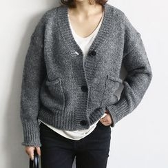 NANING9 - Wool Blend V-Neck Cardigan