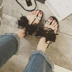 QQ Trend - Loop-toe Lace Sandals