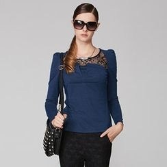 O.SA - Lace-Yoke Top