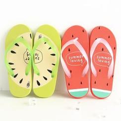 Cutie Bazaar - Couple Matching Flip-Flops