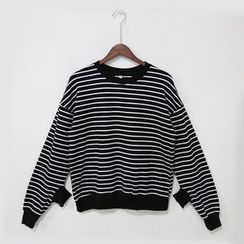 Mr. Cai - Double-Cuff Striped Pullover