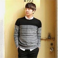 Smallman - Round-Neck Color-Block Sweater