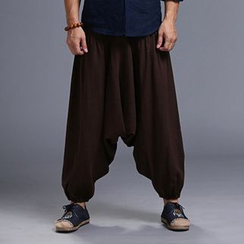 Sparrow Farm - Linen Drop Crotch Pants