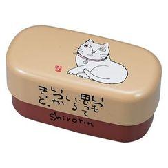 Miyamoto Sangyo - Okamoto Hajime Oval 2 Layers Lunch Box Shirorin