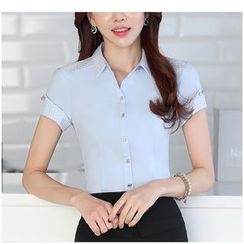 Arcadian - Short Sleeve Dress Shirt / Pencil Skirt