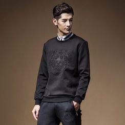 Bingham - 套装: 暗纹套衫 + 运动裤