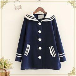 布衣天使 - 水手领单排扣大衣
