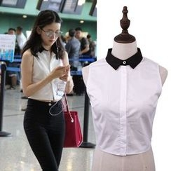 Giyomi - Contrast Trim Decorative Collar