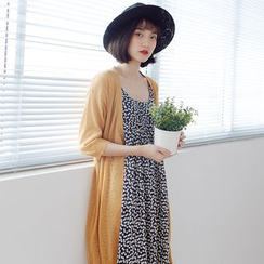 Forest Girl - 3/4-Sleeve Long Cardigan