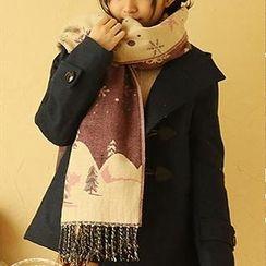 Moriville - 雪花印花圍巾