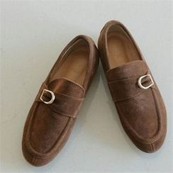 YOOM - Buckled Suede Loafers
