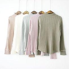 Polaris - Mock Neck Bell Sleeve Sweater