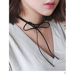 PINKROCKET - Faux Suede Ribbon Choker