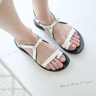 GLAM12 - Toe-Ring Strap Sandals