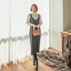 Seoul Fashion - Sleeveless Slit-Side Long Dress