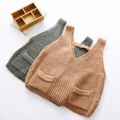 Bonbon - V-Neck Knit Vest