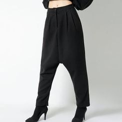 FASHION DIVA - Band-Waist Harem Pants