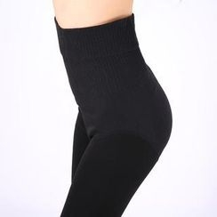 Little Flower - Fleece-Lined Stirrup Leggings