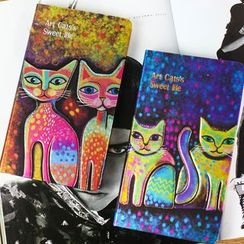 Homey House - Cat Print Hard Cover Notebook (S)