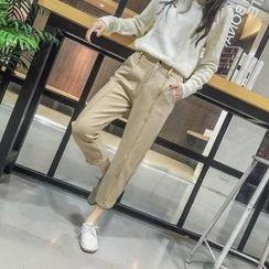 IndiGirl - Paneled Cropped Pants