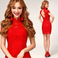 Gracia - Lace Short Cheongsam
