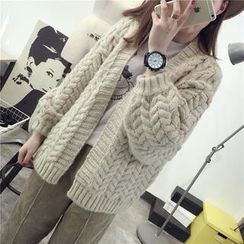 Qimi - Cable Knit Cardigan