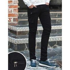 STYLEMAN - Cargo-Pocket Slim-Fit Pants