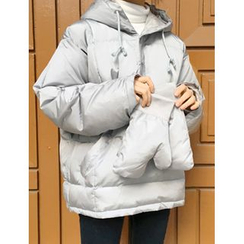 FROMBEGINNING - Anorak Padded Jacket with Gloves