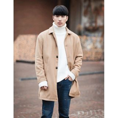 STYLEMAN - Single-Breasted Wool Blend Coat
