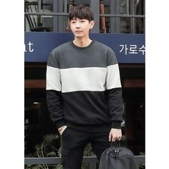 GERIO - Round-Neck Color-Block Sweatshirt