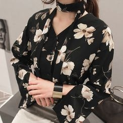 NANING9 - Floral Print Blouse