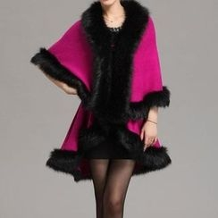 Birdwatch - Furry Knit Cape