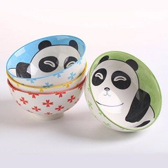 La Vie - Printed Ceramic Bowl Set (2 pcs)