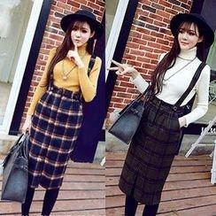 MayFair - Plaid Jumper Skirt