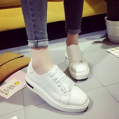 QQ Trend - 丝绒厚底休闲鞋