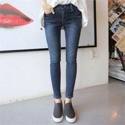 QNIGIRLS - Washed SkinnyJeans