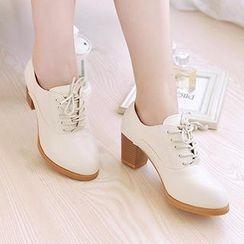 Pixie Pair - Chunky Heel Oxford Pumps