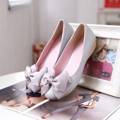 Pastel Pairs - 蝴蝶结平跟鞋