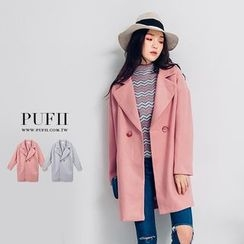 PUFII - Notched Lapel Woolen Jacket