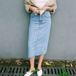 MePanda - Denim Midi Skirt