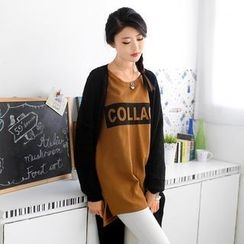 59 Seconds - Long-Sleeve Lettering Long T-Shirt