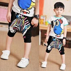 WellKids - Kids Zebra-Print Shorts