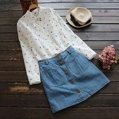 YOYO - 长袖印花衬衫