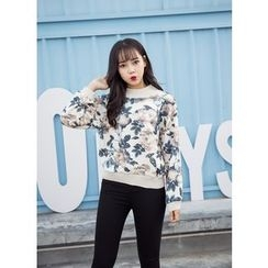 Whitney's Shop - Floral Print Pullover
