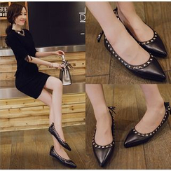 Siya - Studded Pointy Flats